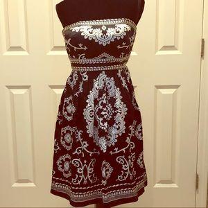 White House Black Market Strapless Dress Size 0